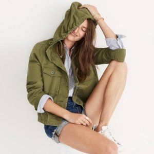 Madewell Army Cropped Anorak Jacket Size XS